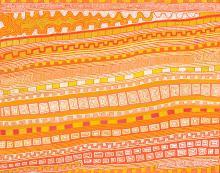 PATRICK TJUNGURRAYI, (c.1935 – 2017), NGARRU, 2008, synthetic polymer paint on Belgian linen