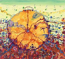 JOHN OLSEN born 1928, PAELLA BY THE SEA, 2014, watercolour and pastel on paper