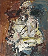 FRANK AUERBACH born 1931, British, DAVID LANDAU SEATED, 1992, oil on canvas