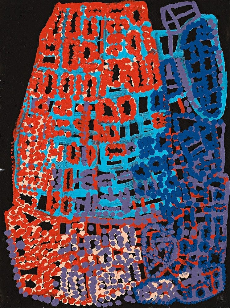 ALMA WEBOU 1928 - 2009, PINKALAKARA, 2004, synthetic polymer paint on paper