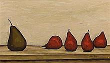 JOHN BRACK 1920 - 1999, PEARS, 1957, oil on canvas