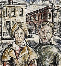 DANILA VASSILIEFF 1897 - 1958, FITZROY CHILDREN, 1937, oil on canvas