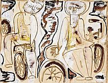 IAN FAIRWEATHER 1891 - 1974, SCOOTERS, 1950, gouache and watercolour on paper