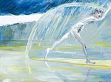 ARTHUR BOYD 1920 - 1999, NARCISSUS RUNNING ON A SANDBANK, 1976, oil on canvas