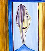 KEN WHISSON born 1927, BLUE SHIRT, BLUE SKY, 2005, oil on linen