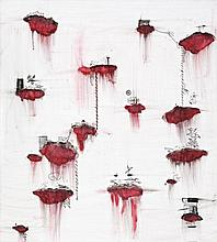 JOHN PULE born 1962, New Zealand, TAPUAKIAGA, 2001, oil, ink and enamel on canvas