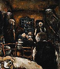 VIC O'CONNOR 1918 - 2010, THE GREEK CAFE, 1944, oil on board