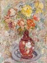 KATE O'CONNOR, (1876 – 1968, New Zealand/Australian), ROSES OF THE RIVIERA, oil on cardboard