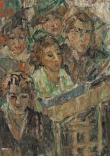 KATE O'CONNOR, (1876 – 1968, New Zealand/Australian), THE CHOIR, oil on wood panel