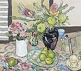 CRISS CANNING STILL LIFE WITH NATIVE FLOWERS AND