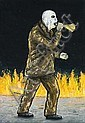 PETER BOOTH PAINTING (MAN AND FIRE), 1998 66.5 x, Peter Booth, Click for value