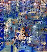 JON CATTAPAN CROSSROAD (BLUE) NO. 2, 2003 180.0 x