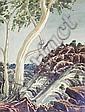 OSCAR NAMATJIRA MOUNT RAZORBACK LANDSCAPE, c1950, Oscar Namatjira, Click for value