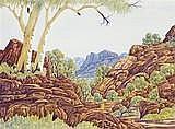 CLEM ABBOTT ARANDA LANDSCAPE, c1970 36.5 x 50.0 cm