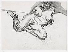 Lucian Freud 1922 - 2011 British, GIRL SITTING, 1987 etching