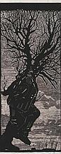 William Kentridge 1955, WALKING MAN, 2000 linocut on paper