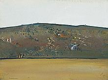 Fred Williams 1927 - 1982, ERODED HILL, 1977 gouache on paper
