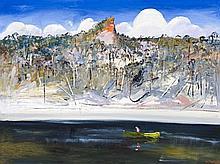 Arthur Boyd 1920 - 1999, FIERY PULPIT ROCK, c1993 oil on canvas