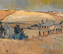 Horace Trenerry 1899 - 1958, COTTAGE, PORT WILLUNGA, c1935 oil on canvas-board