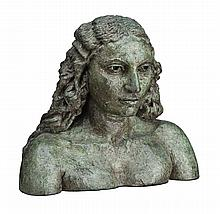 JACOB EPSTEIN, (1880 - 1959, British, American), ISRAFEL (SUNITA), 1930 , bronze with green patina