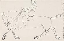 HENRI GAUDIER-BRZESKA, (1891 - 1915, French), EQUESTRIENNE, 1913, pen and ink on paper