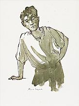 RUSSELL DRYSDALE, (1912 - 1981), STUDY OF A YOUNG BOY, pen and ink on paper