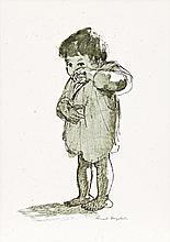 RUSSELL DRYSDALE, (1912 - 1981), STUDY OF A CHILD, pen, ink and wash on paper