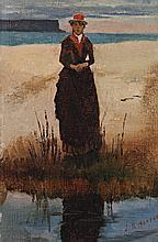 JULIAN ASHTON, (1851 - 1942), ELIZA ASHTON, c.1890s, oil on canvas board