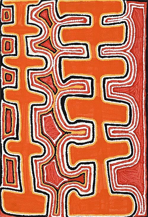 FRED TJAKAMARRA Yirrabunda, Tanami Desert, 1996