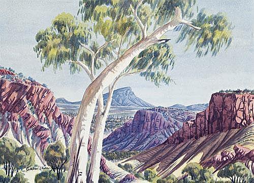 OSCAR NAMATJIRA Central Australian Landscape