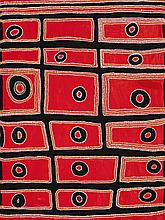 MULGRA (MAWUKURA) JIMMY NERRIMAH , (1929 – 2013) , UNTITLED, 1994, synthetic polymer paint on linen
