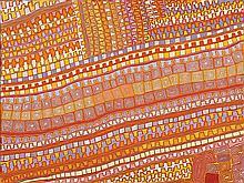 PATRICK TJUNGURRAYI, born c.1935, PUNTUJTALPA (JUPITER WELL), 2006, synthetic polymer paint on linen