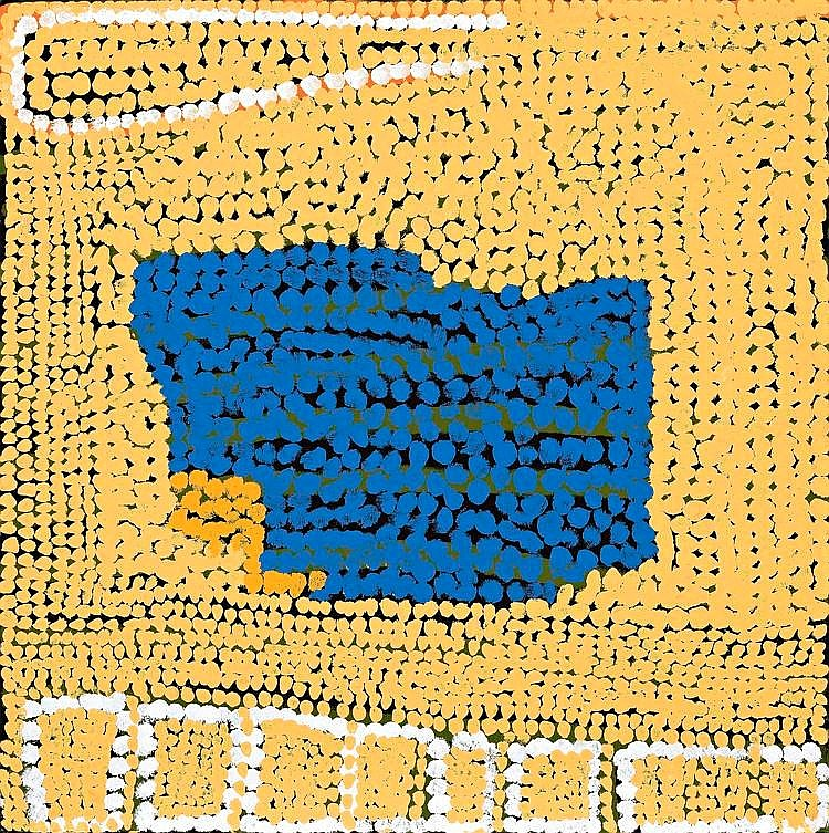 MIYAPU MARY MERIBIDA, born c1930, UNTITLED, 2004, synthetic polymer paint on linen