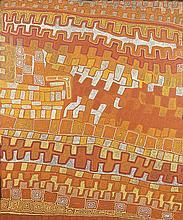 PATRICK TJUNGURRAYI, born c1940, UNTITLED, 2005, synthetic polymer paint on linen