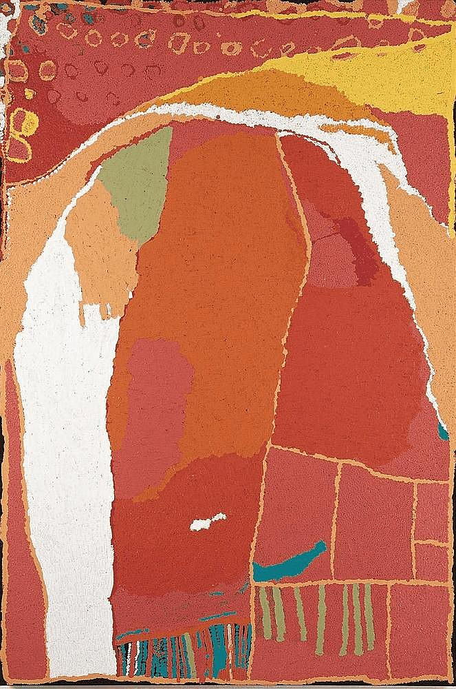 ALMA WEBOU, (c1928 - 2009), PINKALAKARA, 2006, synthetic polymer paint on linen
