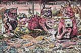 GRAEME BASE Crafty Crimson Cats, 1984 (original