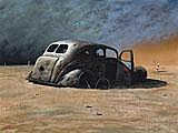 GRAEME ROCHE Car Wreck oil on canvas 59.0 x 79.0