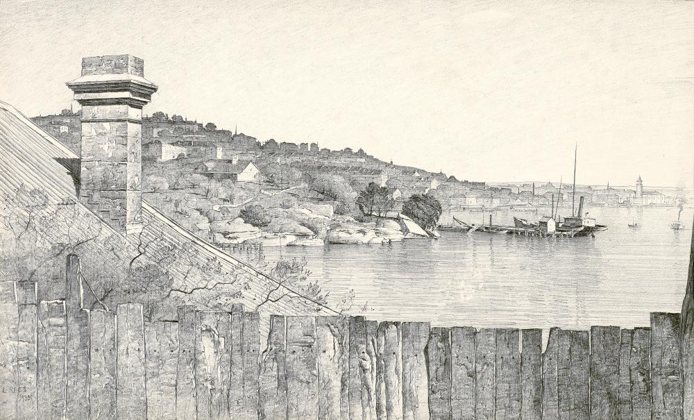LLOYD REES, WESTERN END OF GOAT ISLAND, SYDNEY HARBOUR, 1933