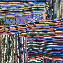 WEAVER JACK, (c.1928 – 2010), LUNGARUNG, 2006, synthetic polymer paint on linen