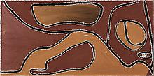 ROVER THOMAS (JOOLAMA), (c.1926 – 1998), RUBY PLAINS MASSACRE 1, 1985, natural earth pigments and bush gum on canvas
