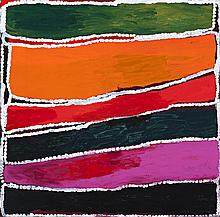 WAKARTU CORY SURPRISE, (c.1929 – 2011), PAKARNU, 2008, synthetic polymer paint on canvas