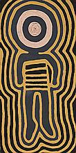 RONNIE TJAMPITJINPA, born c.1943, THE KADAITCHA MAN, 1993, synthetic polymer paint on linen