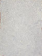 RONNIE TJAMPITJINPA, born c.1943, TINGARI AT WATANUMA, 2006, synthetic polymer paint on linen