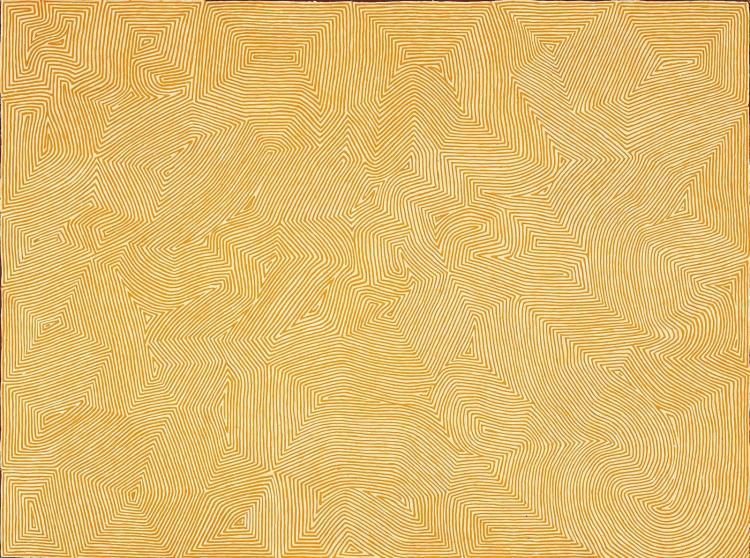 GEORGE TJUNGURRAYI, born c.1943, KIRRIMALUNYA, 2009, synthetic polymer paint on linen