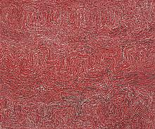 GEORGE WARD TJUNGURRAYI, born c.1945, KAAKURATINTJA (LAKE MACDONALD), 2003, synthetic polymer paint on linen