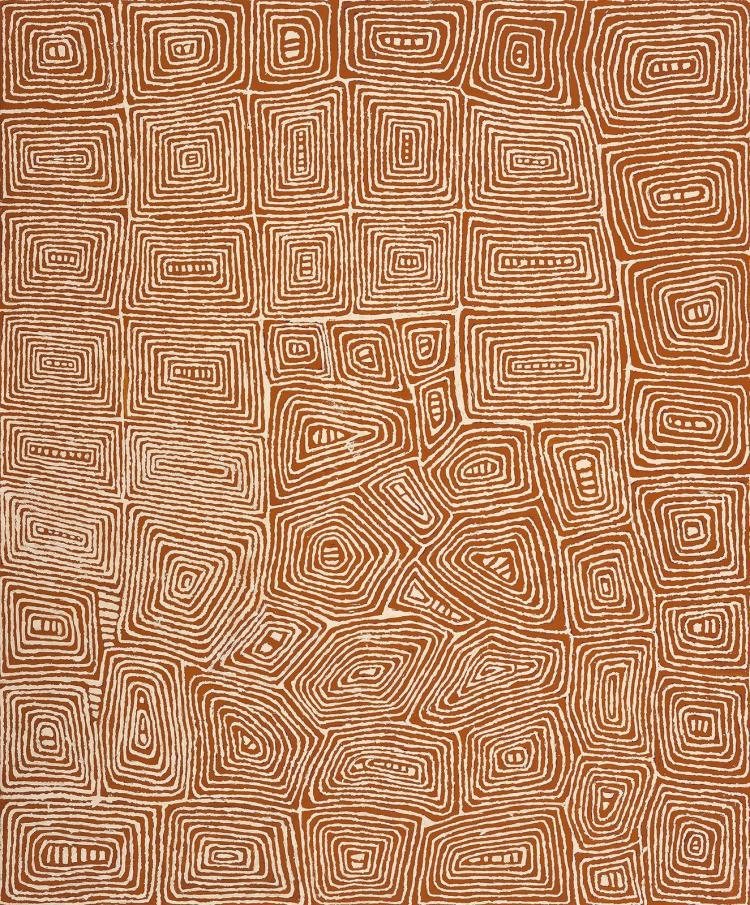 JOHNNY YUNGUT TJUPURRULA, born c.1930, TJUNGIMANTRA, 2002, synthetic polymer paint on linen