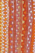 PATRICK TJUNGURRAYI, born c.1935, TJIPARITJARRA, 2009, synthetic polymer paint on linen