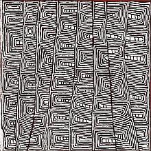 JOHNNY YUNGUT TJUPURRULA, born c.1930, TJUTALPI, 2003, synthetic polymer paint on linen