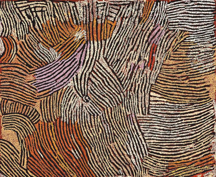 NANCY NUNGURRAYI, (c.1935 – 2010), UNTITLED, 2007, synthetic polymer paint on linen
