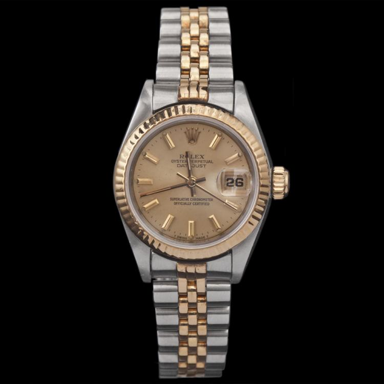 Lady's Two-Tone Rolex Oyster Perpetual Watch